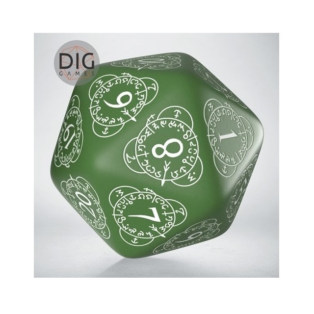 D20 Level Counter Green & White