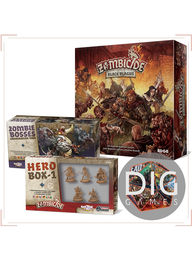 COMBO Zombicide Black Plague Pack